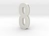 Choker Slide Letters (4cm) -Number  8 3d printed