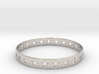 Stars Around (5 points, cut through) - Bracelet 3d printed