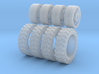 1/87 pickup off road tire and wagon wheel assy x4 3d printed