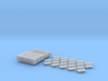N Scale Pallets Freight Boxes Bags (38pc) 3d printed