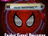 """Spider-man """"Spidey Signal"""" Upgrade Kit 3d printed Base and cover designed to fit these torches."""