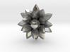 Silver crystal pendant 3d printed