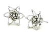 Carbon Atom Stud Earrings 3d printed