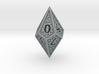 Hedron D10 (Solid), balanced gaming die 3d printed