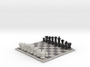 3D Pixel Chess Set - Classic Black & White 3d printed