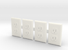 Electrical Outlet Faces; 1/6 Scale - Qty 4 3d printed