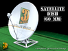 Satellite dish (30+60mm) - set 3d printed Satellite dish set (2x30mm+60mm) - 60mm