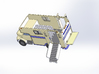 HO 1/87 1987 Imperatore 3-4 Horsebox With Tailgate 3d printed CAD image.