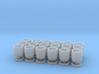 18 wooden barrels HO scale 3d printed