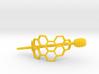 Honey Comb Hair Fastener 3d printed