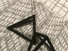 Interlocked Triangle Necklace 3d printed