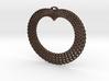 Crochet Heart Pendant 3d printed