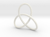 Perforated Trefoil Pendant 3d printed