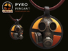 Team Fortress 2 - Pyro Collectible Pendant   Keych 3d printed