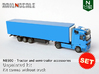 SET Tractor and semi-trailer accessories (N 1:160) 3d printed