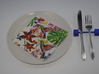 Knife rest & Cutlery rest  Abstract square cubicle 3d printed Cutlery rest  Abstract square cubicle blue