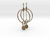 Interlinked Rings Earrings 3d printed