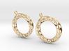 Möbius chain earrings 3d printed