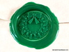Holly Wreath Wax Seal 3d printed This is just the wax impression, in Kelly Green