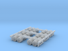 three sets of duel axles zscale 3d printed duel axle wheels for trailer Z scale