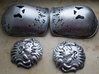 Cersei's Pauldrons 3d printed Pauldrons and lions painted with liquid leaf in pewter.