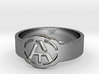 Atheism ring, unique ring, Atheist Jewelry, Atheis 3d printed
