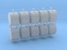 Altglascontainer Trommel 10erSet 1:100 3d printed