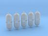 Altglascontainer Halbkugel 10erSet 1:72 3d printed
