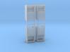 Altkleidercontainer 4er Set 1:72 3d printed
