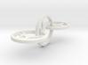 Yoga Jewelry 3 hoop earring   3d printed