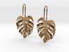 Monstera Drop Earrings 3d printed