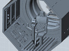 YT1300 TURRET WELL MPC 3d printed Millennium Falcon turret gun well, render.