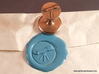 Telescope Wax Seal 3d printed Telescope wax seal with impression in Light Blue wax.