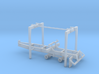 1/87th Pitts Type 22' Pup Log Trailer 3d printed