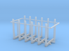 1/87th set of six log truck or trailer bunks 3d printed