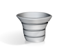 Espresso coffee cup free form 3d printed