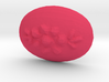 18x13 Oval Flower Cabochon Plastic Insert 3d printed
