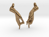 Hamsasyam Mudra Earrings (Closed) 3d printed