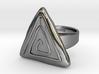Vortex triangular ring 3d printed