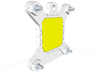 Socket S1 CPU Bauble 3-Pack 3d printed Rear of assembly in Sketchup; The yellow block represents the pins.