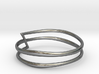 Spiral ring - Free form - Size 8.5 3d printed