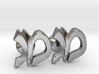 "Hebrew Monogram Cufflinks - ""Mem Gimmel"" 3d printed"