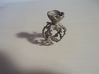 Half open flower ring (US sizes 5.75 – 9.75) 3d printed Polished Nickel Steel, size 9.125 (not for sale)