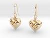 Open Love Heart Earring 3d printed