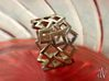 Scatter Squares Ring 3d printed