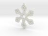 Resist snowflake (2.6 in.) 3d printed
