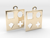 square earrings 3d printed