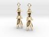 Rocket flower earrings 3d printed
