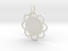 Custom Flower hexagon Pendant 3d printed