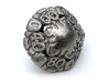 Art Nouveau Decader d10 3d printed In Polished Nickel Steel